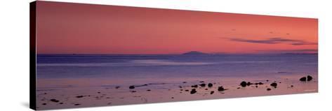 Stones on the Beach, Snaefellsjokull, Snaefellsnes Peninsula, Iceland--Stretched Canvas Print