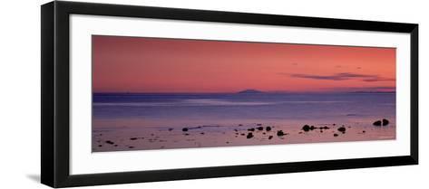 Stones on the Beach, Snaefellsjokull, Snaefellsnes Peninsula, Iceland--Framed Art Print