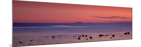 Stones on the Beach, Snaefellsjokull, Snaefellsnes Peninsula, Iceland--Mounted Photographic Print