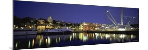 Reflection of Buildings in Water, the Bigo, Porto Antico, Genoa, Italy--Mounted Photographic Print