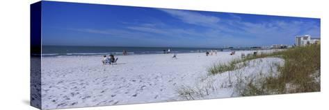 Tourists on the Beach, Crescent Beach, Gulf of Mexico, Siesta Key, Florida, USA--Stretched Canvas Print
