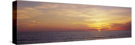 Sunset over the Sea, Gulf of Mexico, Venice, Sarasota County, Florida, USA--Stretched Canvas Print