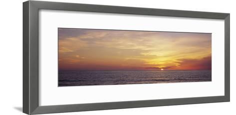 Sunset over the Sea, Gulf of Mexico, Venice, Sarasota County, Florida, USA--Framed Art Print
