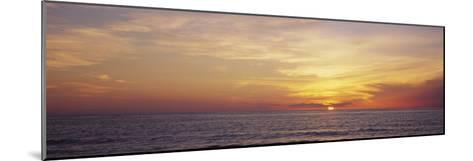 Sunset over the Sea, Gulf of Mexico, Venice, Sarasota County, Florida, USA--Mounted Photographic Print