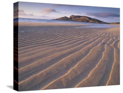 Sand Patterns on the Beach Coll Inner Hebrides, Scotland, UK-Niall Benvie-Stretched Canvas Print