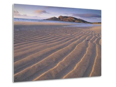 Sand Patterns on the Beach Coll Inner Hebrides, Scotland, UK-Niall Benvie-Metal Print