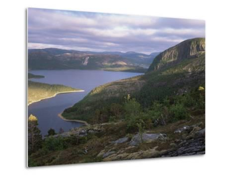 Late Evening Light Over Norwegian Fjord, Lausvnes, Nord-Trondelag, Norway, Europe-Pete Cairns-Metal Print