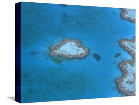 Aerial View of the Heart Reef, Hardy Reef, Great Barrier Reef, Queensland, Australia-Jurgen Freund-Stretched Canvas Print