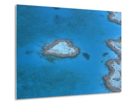Aerial View of the Heart Reef, Hardy Reef, Great Barrier Reef, Queensland, Australia-Jurgen Freund-Metal Print