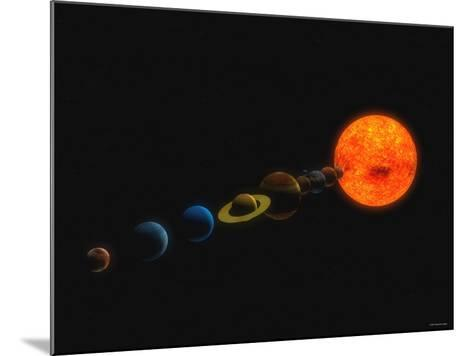 Solar System-Stocktrek Images-Mounted Photographic Print
