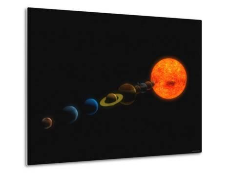 Solar System-Stocktrek Images-Metal Print