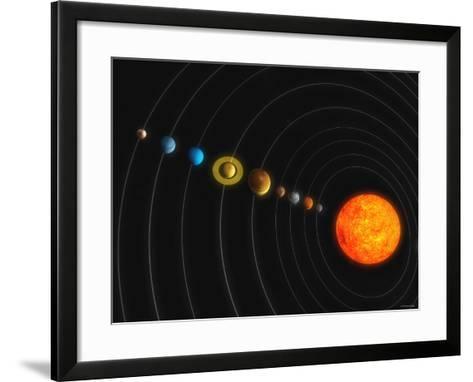 Solar System-Stocktrek Images-Framed Art Print