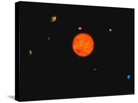 Solar System-Stocktrek Images-Stretched Canvas Print