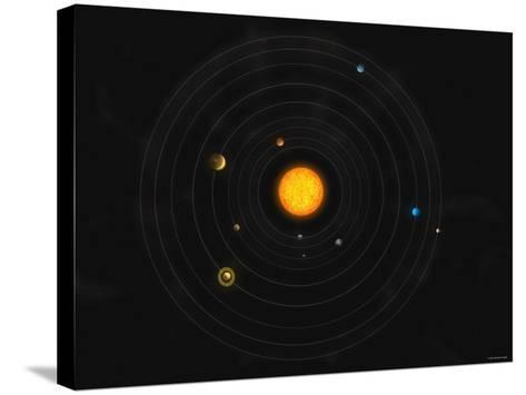 Solar System-Stocktrek Images-Stretched Canvas Print