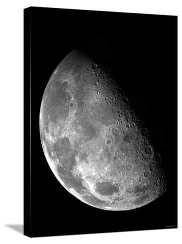 View of the Moon's North Pole-Stocktrek Images-Stretched Canvas Print