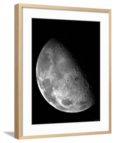 View of the Moon's North Pole-Stocktrek Images-Framed Art Print
