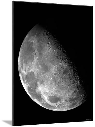 View of the Moon's North Pole-Stocktrek Images-Mounted Photographic Print
