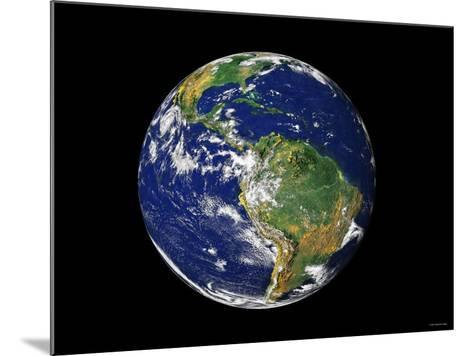 Full Earth Showing South America-Stocktrek Images-Mounted Photographic Print