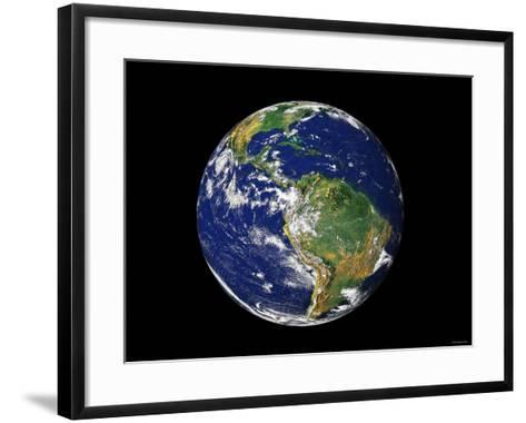 Full Earth Showing South America-Stocktrek Images-Framed Art Print