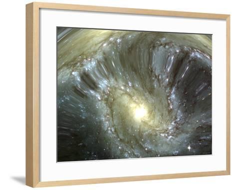 Digitally Altered Galaxy-Stocktrek Images-Framed Art Print