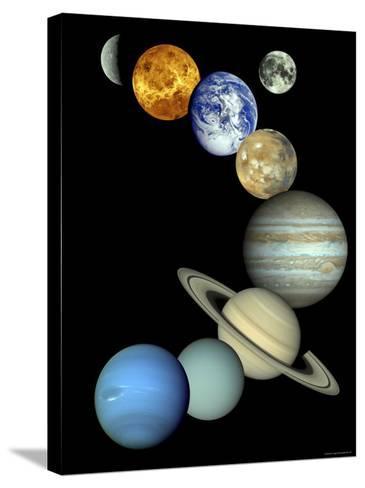 Solar System Montage-Stocktrek Images-Stretched Canvas Print