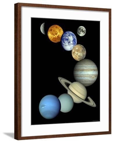 Solar System Montage-Stocktrek Images-Framed Art Print