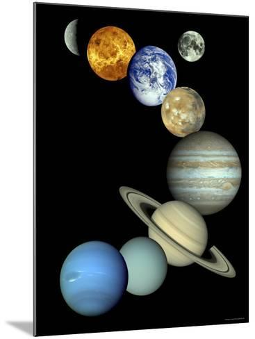 Solar System Montage-Stocktrek Images-Mounted Photographic Print