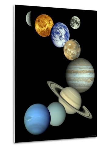 Solar System Montage-Stocktrek Images-Metal Print
