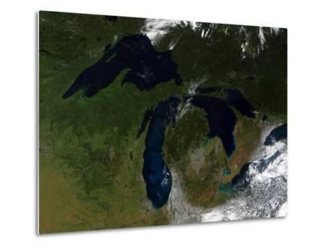 The Great Lakes-Stocktrek Images-Metal Print