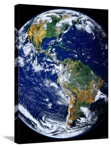 Full Earth Showing the Americas-Stocktrek Images-Stretched Canvas Print