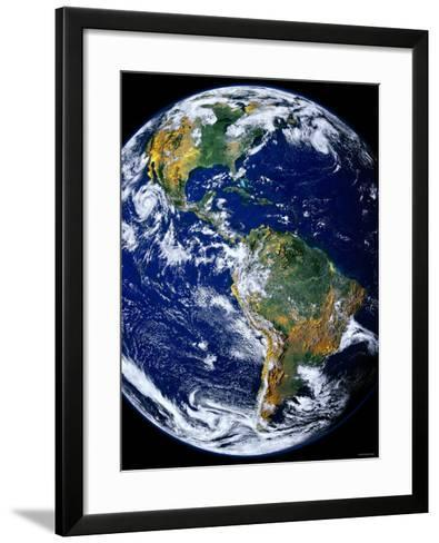 Full Earth Showing the Americas-Stocktrek Images-Framed Art Print