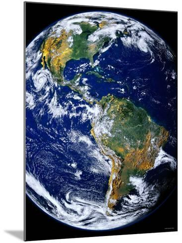 Full Earth Showing the Americas-Stocktrek Images-Mounted Photographic Print