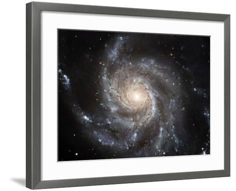 Spiral Galaxy Messier 101 (M101)-Stocktrek Images-Framed Art Print