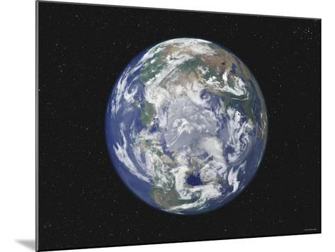 Earth Centered on the North Pole-Stocktrek Images-Mounted Photographic Print