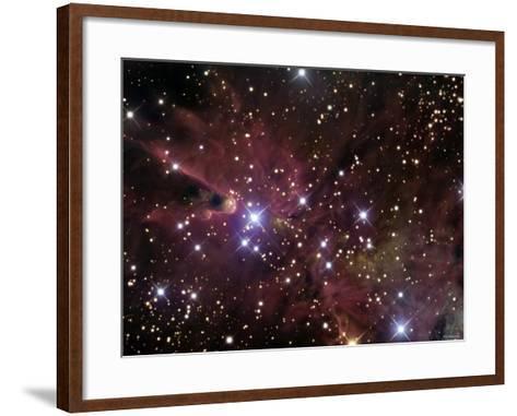 The Cone Nebula and Christmas Tree Cluster-Stocktrek Images-Framed Art Print