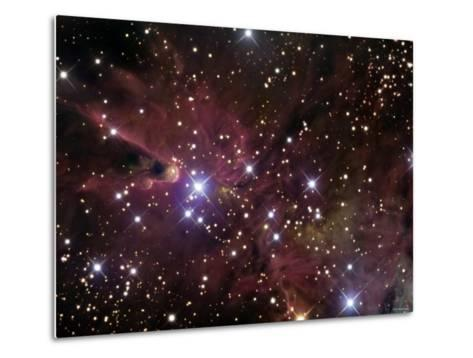 The Cone Nebula and Christmas Tree Cluster-Stocktrek Images-Metal Print