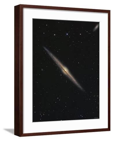 NGC 4565 is an Edge-On Barred Spiral Galaxy in the Constellation Coma Berenices-Stocktrek Images-Framed Art Print