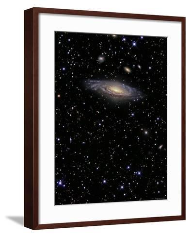 NGC 7331 is a Spiral Galaxy in the Constellation Pegasus-Stocktrek Images-Framed Art Print