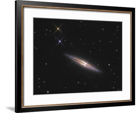 NGC 4013 is an Edge-On Unbarred Spiral Galaxy in the Constellation Ursa Major-Stocktrek Images-Framed Art Print