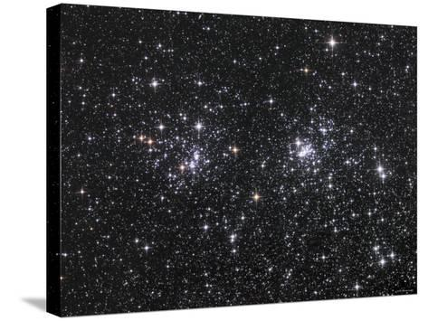 The Double Cluster, NGC 884 and NGC 869, as Seen in the Constellation of Perseus-Stocktrek Images-Stretched Canvas Print