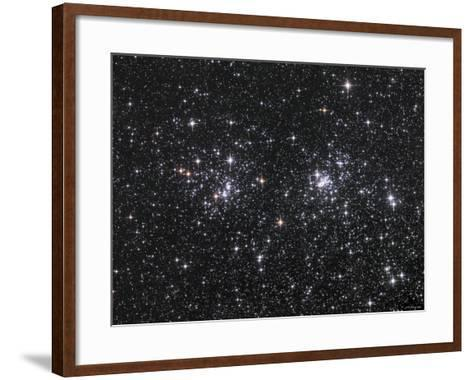 The Double Cluster, NGC 884 and NGC 869, as Seen in the Constellation of Perseus-Stocktrek Images-Framed Art Print