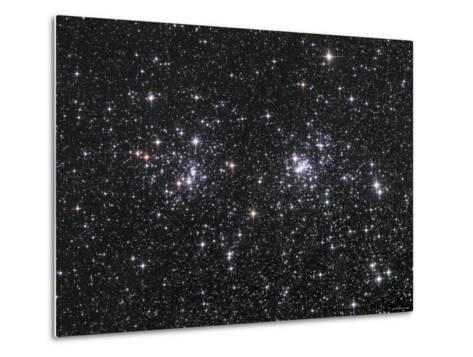 The Double Cluster, NGC 884 and NGC 869, as Seen in the Constellation of Perseus-Stocktrek Images-Metal Print
