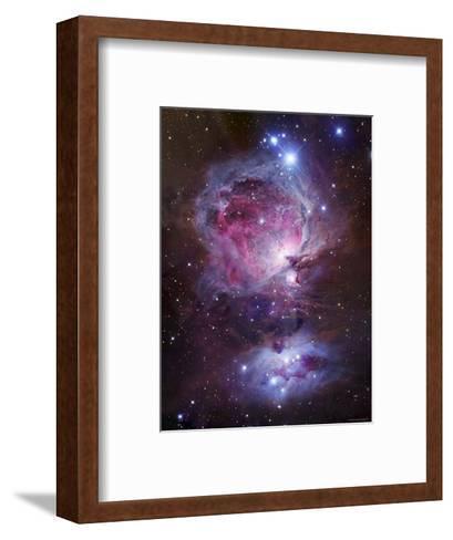 M42, the Orion Nebula (Top), and NGC 1977, a Reflection Nebula (Bottom)-Stocktrek Images-Framed Art Print
