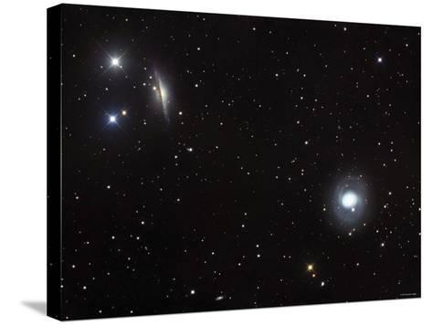 Messier 77 (NGC 1068), and NGC 1055 are Both Spiral Galaxies Located in the Constellation Cetus-Stocktrek Images-Stretched Canvas Print