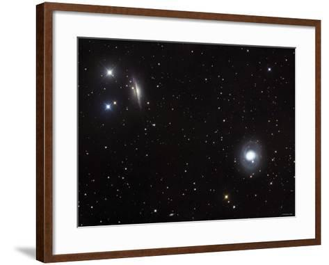 Messier 77 (NGC 1068), and NGC 1055 are Both Spiral Galaxies Located in the Constellation Cetus-Stocktrek Images-Framed Art Print