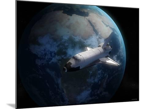 Space Shuttle Backdropped Against Earth-Stocktrek Images-Mounted Photographic Print
