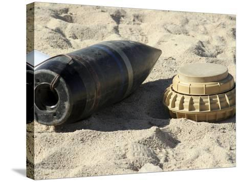 A Static Display of a Converted Ordnance Shell and a Simple Mine-Stocktrek Images-Stretched Canvas Print