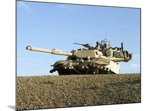 US Marines Provide Security in an M1A1 Abrams Tank-Stocktrek Images-Mounted Photographic Print
