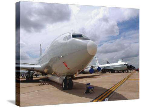 E-8C Joint Surveillance Target Attack Radar System and a RC-135V/W Rivet Joint Aircraft-Stocktrek Images-Stretched Canvas Print