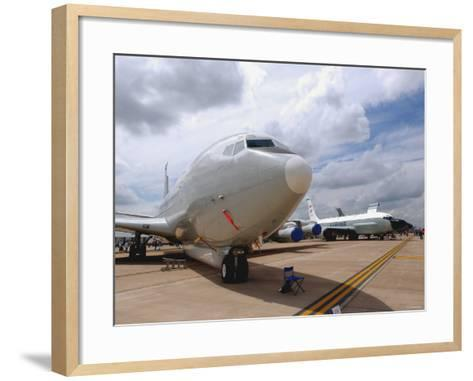 E-8C Joint Surveillance Target Attack Radar System and a RC-135V/W Rivet Joint Aircraft-Stocktrek Images-Framed Art Print